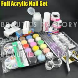 Acrylic Nail Set by Acrylic Powder Glitter Nail Brush False Finger Nail