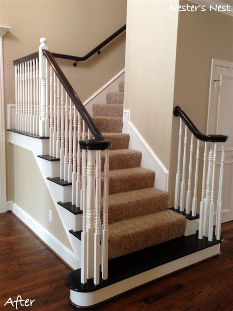 refinish banister ideas of my refinished staircase with refinish banister