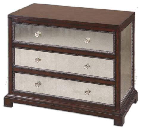 Bedroom Dresser Chest Jayne Mirrored Accent Chest Traditional Accent Chests And Cabinets By Bludot