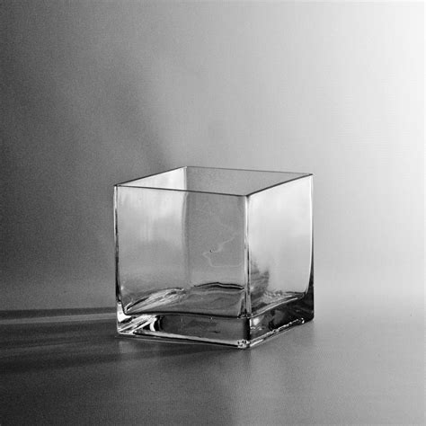 5 Square Vase by 5 Quot Square Glass Cube Vase Discount Miniature Vases
