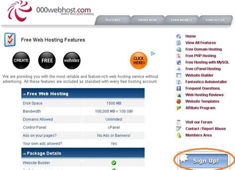 membuat website hosting gratis cara membuat website dengan domain hosting gratis di