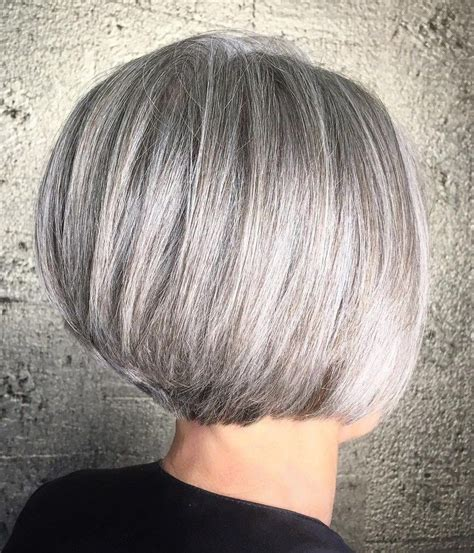 gray hair stacked bob 90 classy and simple short hairstyles for women over 50