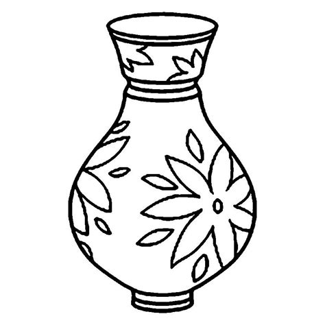 Vase Outline by Vase Outline Clipart Best