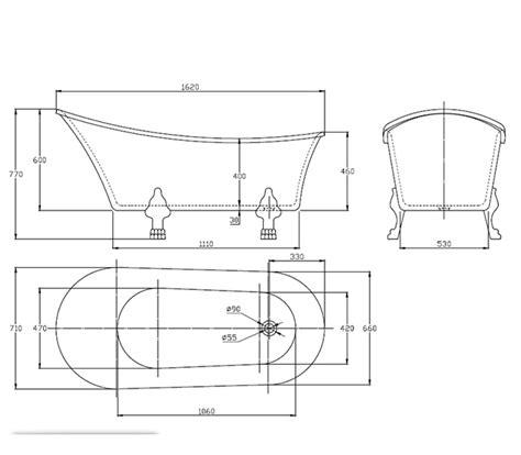 vasca da bagno retro vasca da bagno freestanding retr 242 con piedini oro