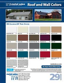 metal sales color chart rock island illinois metal sales manufacturing corporation