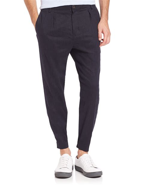 Joggerpants Navy Celana Jogger Navy vince slim fit jogger chino in blue for navy lyst