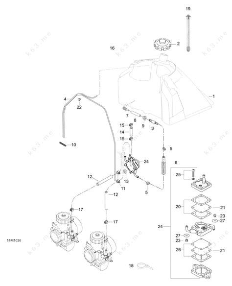 skidoo parts diagram ski doo 2010 skandic wt 550f fuel system parts catalog