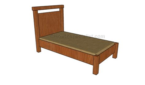 twin bed designs twin bed plans howtospecialist how to build step by