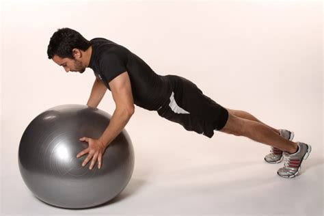 Fitball press up iBodz online personal trainer