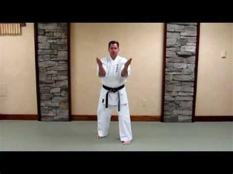 uechi ryu sanchin kata basic study guide youtube