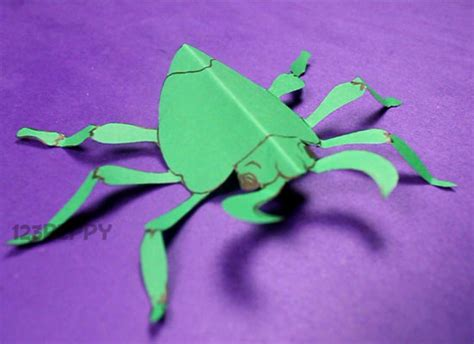 How To Make A Paper Insect - crafts project ideas with tutorials 123peppy