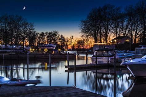 boat house wilson ny sunset at the wilson boathouse photograph by john witt