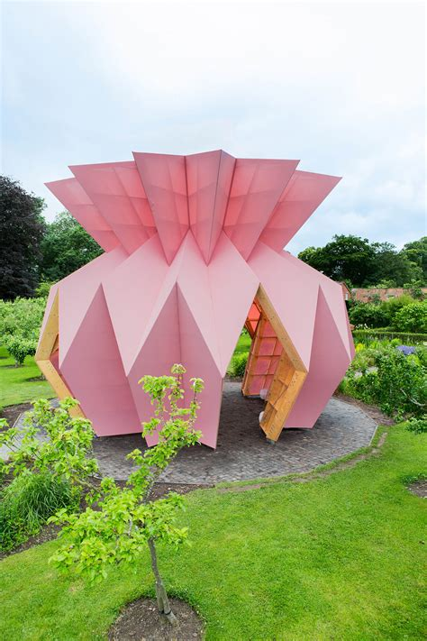 studio morison creates dusty pink pineapple  pavilion