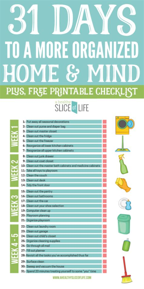 organized home 31 days to a more organized home mind a healthy slice