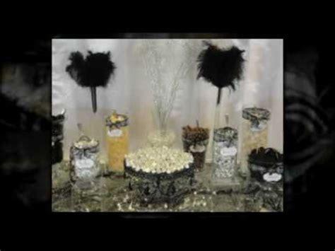 Terranea Wedding Candy Buffet & Dessert Bar Black White
