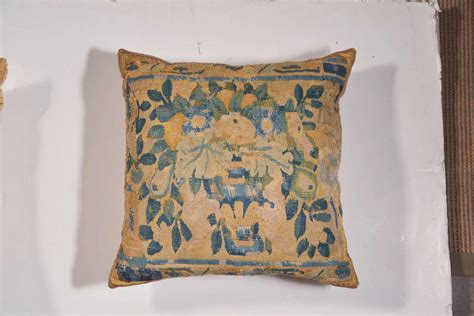 Antique Tapestry Pillows by Pair Of Pillows Made From Antique Aubusson Tapestry At 1stdibs