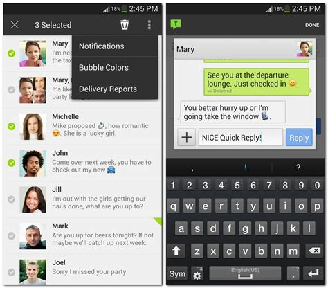 text message skins for android four android messaging apps with a something cnet