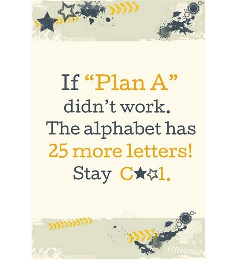Wall Saying Stickers shopisky wall sticker if plan a didn t work the
