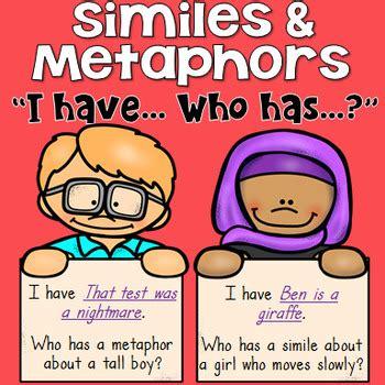 sle of metaphor i who has similes and metaphors whole class