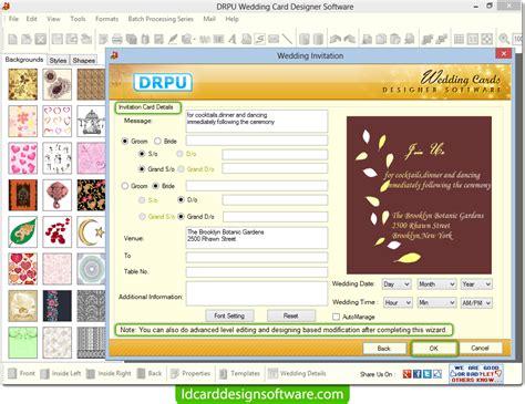 free wedding card designing software screenshots of wedding card design software for creating marriage cards