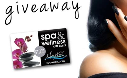 Spaweek Gift Card - spa week 1 000 spa wellness gift card giveaway sun sweeps