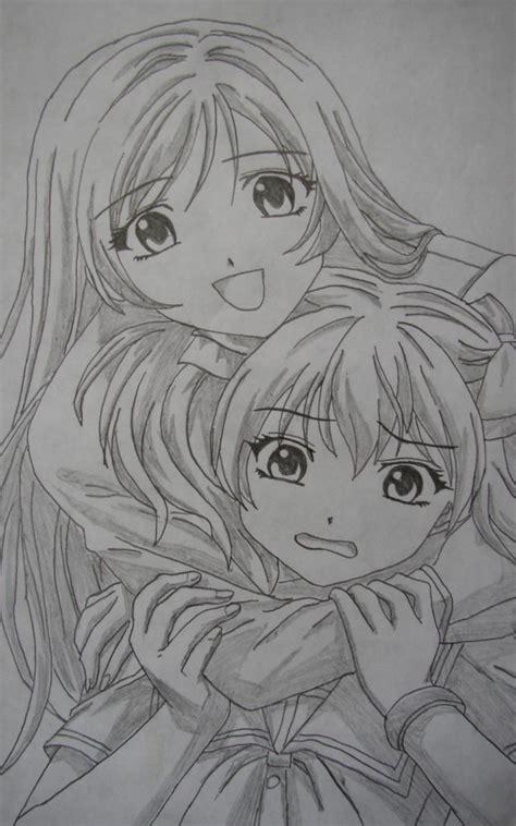 dibujos a lapiz de dos amigas archivos dibujos de amor a mis dibujos a lapiz anime im 225 genes taringa