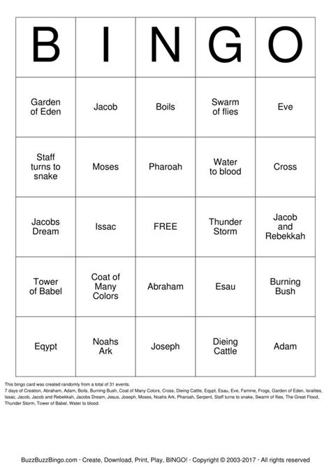 grade faith formation ii bingo cards