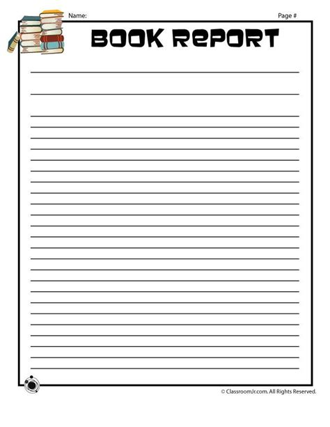 writing book template printable book report forms blank book report writing page