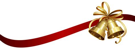 christmas ribbon and bells transparent png stickpng