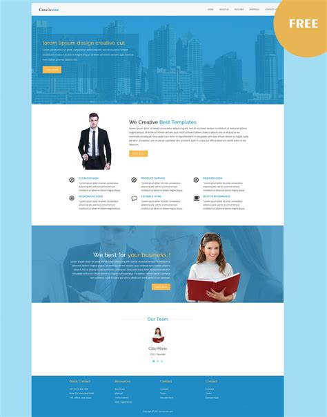 responsive business website templates free business responsive template
