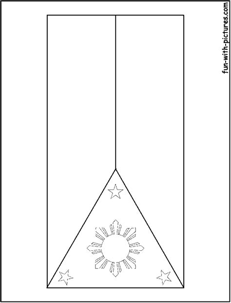 Philippines Flag Free Colouring Pages Philippines Flag Coloring Page