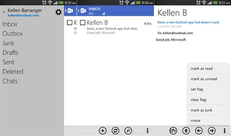 android outlook app microsoft introduces redesigned outlook app for android users top apps