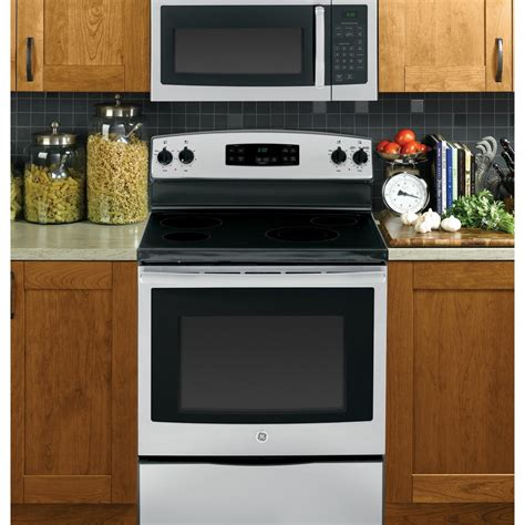 microwave above stove jvm3160rfss ge 1 6 cu ft 1000w the range microwave