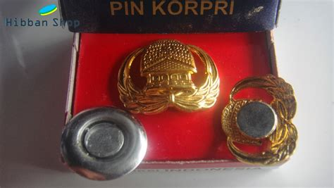 Pin Korpri Fiber Pin Peniti Korpri jual pin korpri asn lapis emas asli magnet peniti sedia lencana korpri model baru