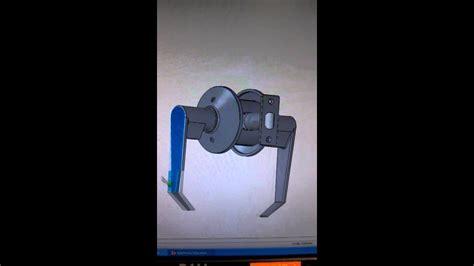 working door handle mechanism created  solidworks