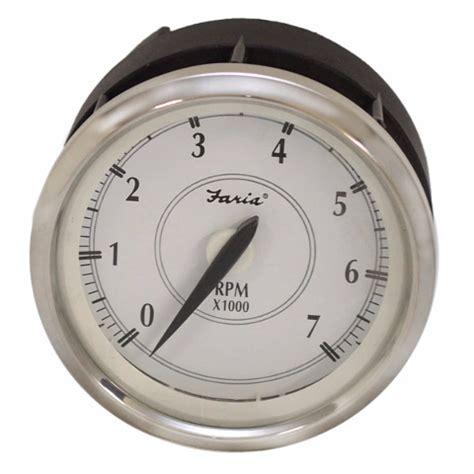 boat rpm gauge faria boat tachometer gauge tcc036b newport series ebay
