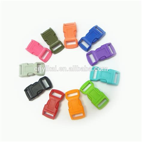 3 8 Color Mini Buckle Paracord 3 8 curved release buckle white transparent side