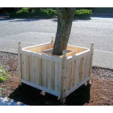 tree box estate tree square planter estate cedar wood planters