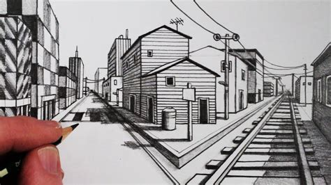 Drawing 1 In College by How To Draw Using 1 Point Perspective Narrated Step By