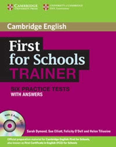 libro first for schools trainer first for schools trainer workbook six practice tests with answers and audio cds 3 sarah