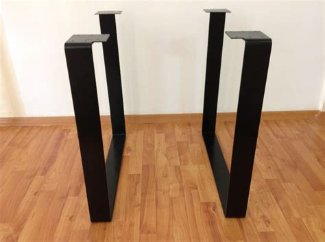 28 flat steel square table legs height option