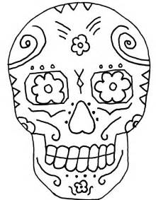 skull color sugar skull coloring page az coloring pages