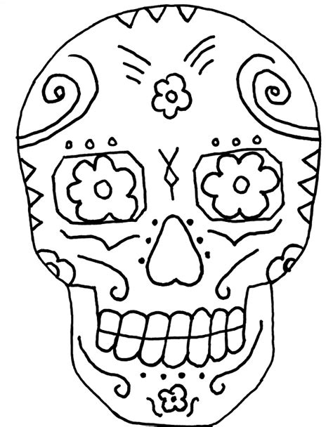printable skull coloring pages az coloring pages