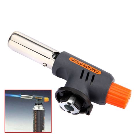gas torch butane burner auto ignition cing welding flamethrower for bbq us 5 10