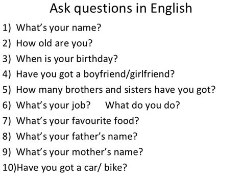 how to ask a question in english huzzah mates interview simple