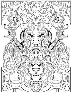 viking coloring pages for adults knotwork dovahkiin by ahairybastard deviantart com