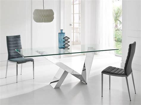 mesa de comedor  tapa de cristal templado angel cerda sl