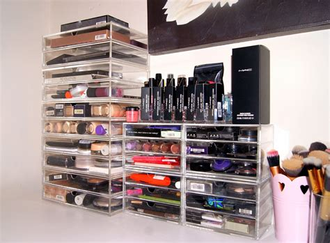 How To Make A Vanity Out Of A Desk My Makeup Storage Amp Collection Vanity Tour Muji Drawers