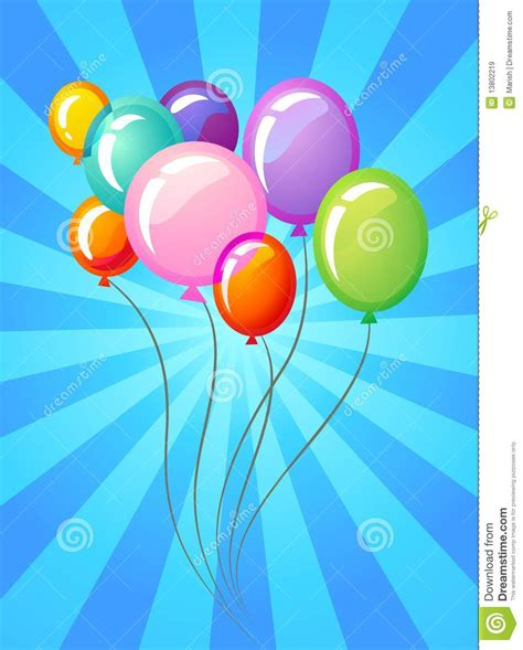 birthday card balloons template balloons template royalty free stock images image