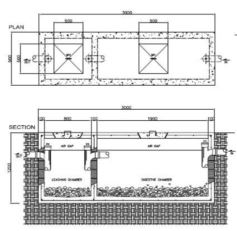 layout plan of septic tank construction drawings residence on behance